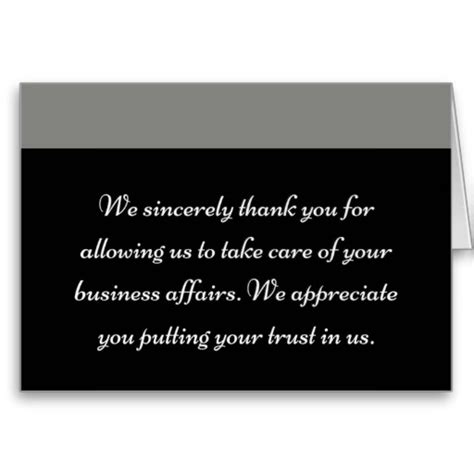 Thank You Card For A Business