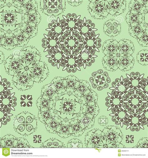 brown green pattern seamless floral pattern in green and brown stock image