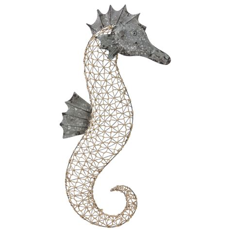 Seahorse Wall Decor by Metal And Woven Sea Wall Decor
