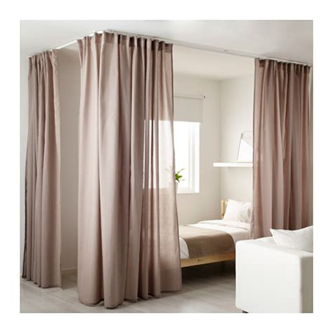 corner curtain tracks vidga room divider for corner white ikea