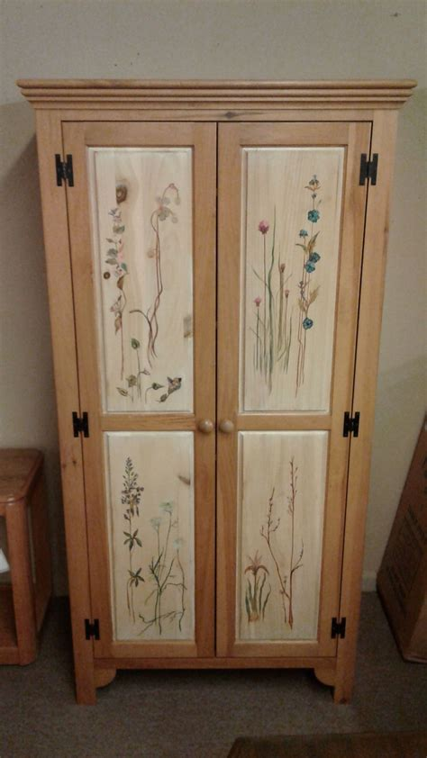 hand painted armoire furniture hand painted pine armoire delmarva furniture consignment