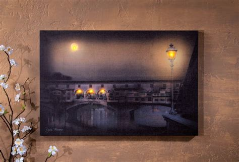 Lighted Canvas Pictures by Radiance Lighted Canvas Lighted Bridge Of Florence Canvas Shelley B Home And