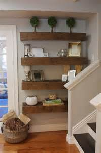 1000 ideas about reclaimed wood floating shelves on