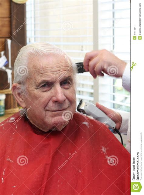 senior citizen hair cuts in houston tx grandpa gets a haircut stock image image 11016841