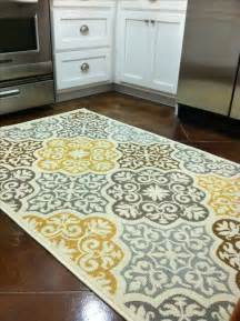 Yellow And Grey Kitchen Rugs Kitchen Rug Purchased From Overstock Blue Grey Yellow Brown Home Decor Kitchen Decor