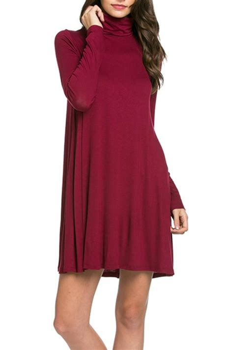 turtleneck swing dress mittoshop turtleneck swing dress from wilmington by the