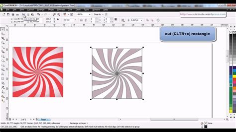 tutorial corel draw x4 tutorial coreldraw x4 pattern 2 youtube