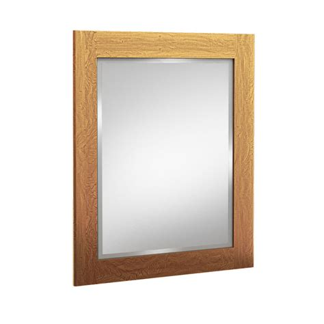 rectangular bathroom mirrors shop kraftmaid 24 in x 30 in praline rectangular framed