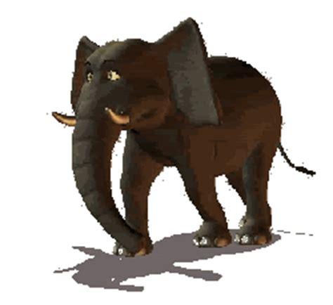 cute elephant clip art gifs at best animations