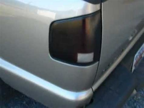smoked out tail lights chevy s10 smoked out tail lights and chevy emblem youtube