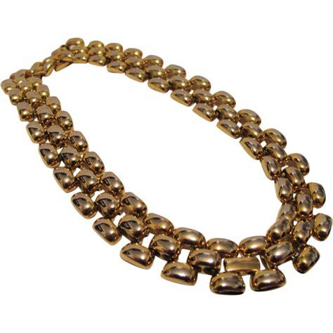 heavy weight should wear choket vintage erwin pearl gold tone necklace choker heavy