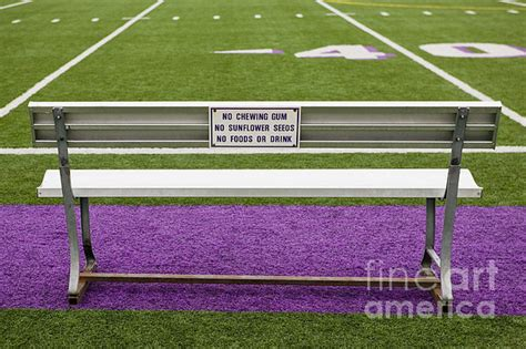 field bench sign on athletic field bench by andersen ross