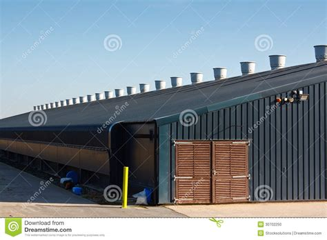Shed Productions by Commercial Poultry Farming Building Stock Photo Image