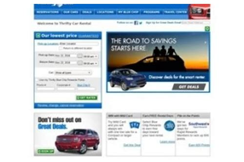 thrifty car rental coupon convertible