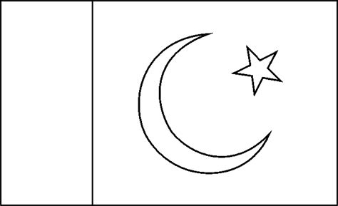 pakistan flag coloring pages