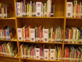 library signs and posters plus shelf signage labels and