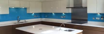 Blue Backsplash Kitchen by Coloured Glass Splashbacks By Glass Replacements Coventry
