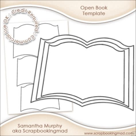 template of open book open book template commercial use ok 163 3 00 scrapbookingmad