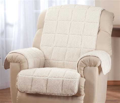 sherpa recliner cover waterproof quilted sherpa recliner cover by oakridgetm