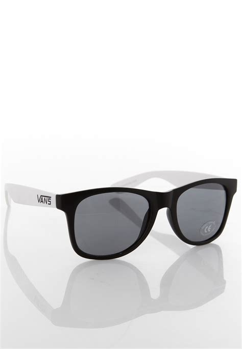 black and white l shades vans spicoli 4 shades black white sunglasses