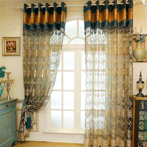 blue gold curtains popular blue gold curtains buy cheap blue gold curtains
