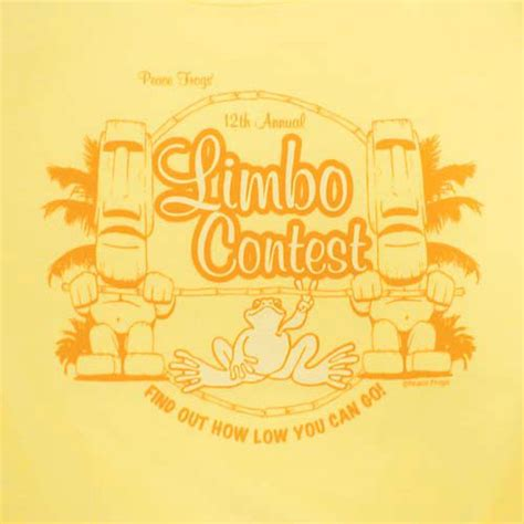 Tshirt Live In Limbo One Clothing peace frogs junior limbo contest 95 5 cap sleeve t shirt