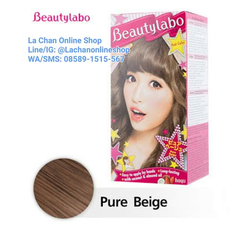 Beautylabo Cat Rambut Hair Color Pewarna Rambut jual cat rambut beautylabo hair color beige la chan shop