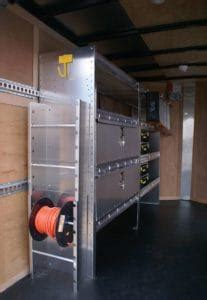 cargo trailer cabinets  maximize  storage space