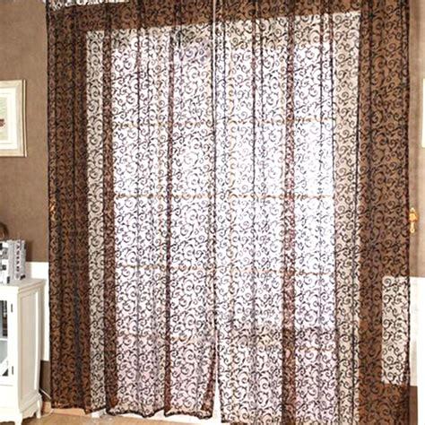 modern door curtains modern floral voile door window curtain drape panel sheer