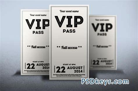 vip card template psd clean retro style vip pass card 52108 187 free