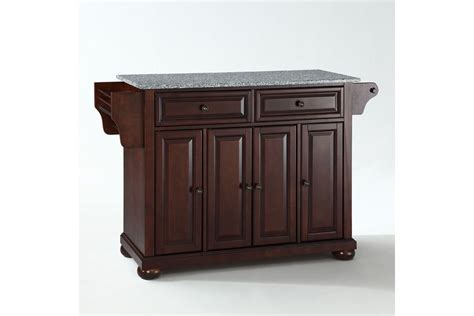 mahogany kitchen island alexandria solid granite top kitchen island in vintage mahogany finish by crosley