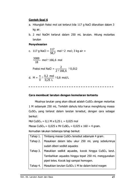 cara membuat larutan na 1000 ppm 6 larutan asam dan basa1