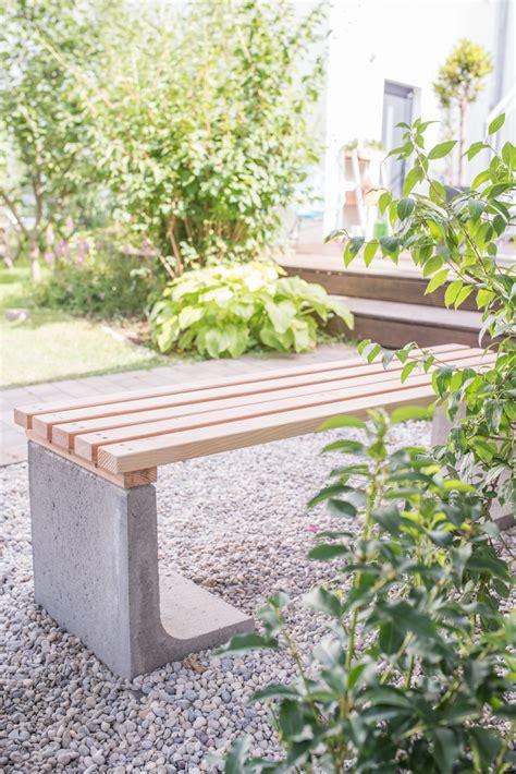 Bank Holz Garten by Diy Gartenbank Mit Beton Und Holz Leelah