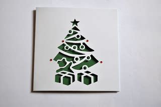 sweet pea design christmas tree laser cut card