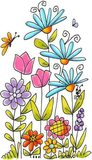 how to draw a garden with flowers simple and pretty flower drawing pinteres