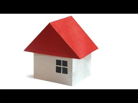 How To Make A 3d House With Paper - origami house 3d