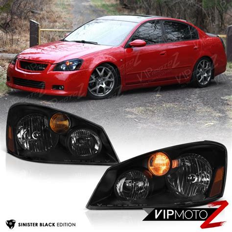 nissan altima headlights quot sinister black quot for 2005 2006 nissan altima sedan