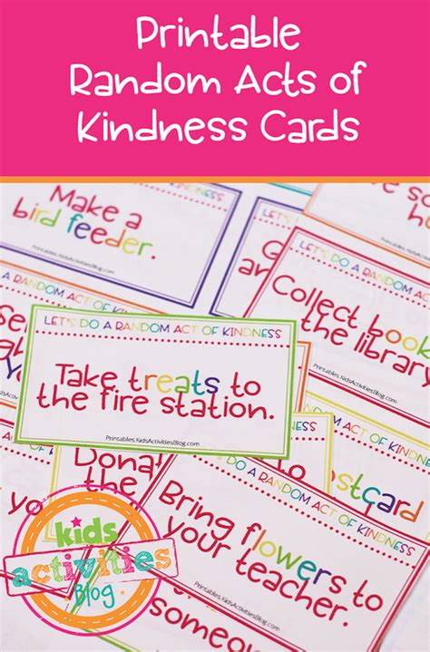 How To Find Random On Random Acts Of Kindness Cards Activities