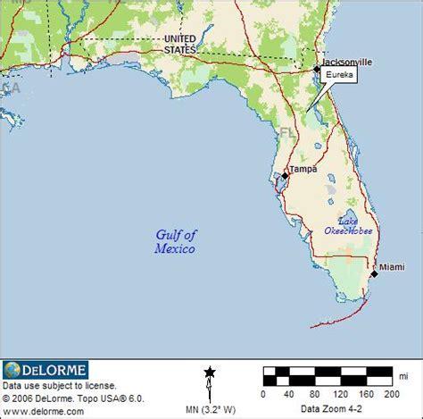 florida state location map florida rv cing eureka rv cing