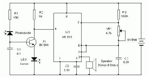 photodiode diagram circuit diagram simple photodiode alarm circuit diagram