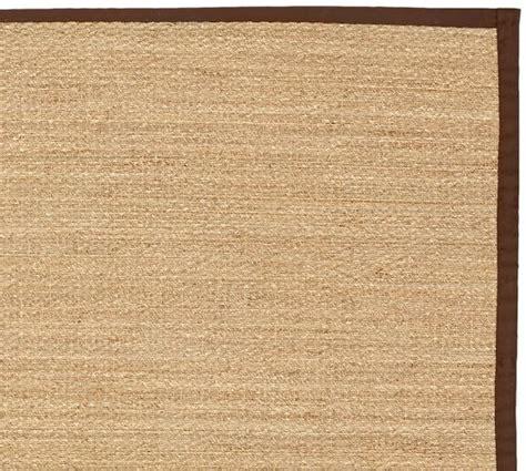 custom seagrass rug fibreworks 174 custom color bound seagrass rug espresso pottery barn
