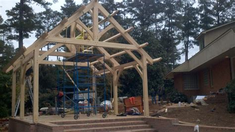 Timber Frame Outbuildings Carports Outdoor Kitchens More Timber Frame Pool House Plans