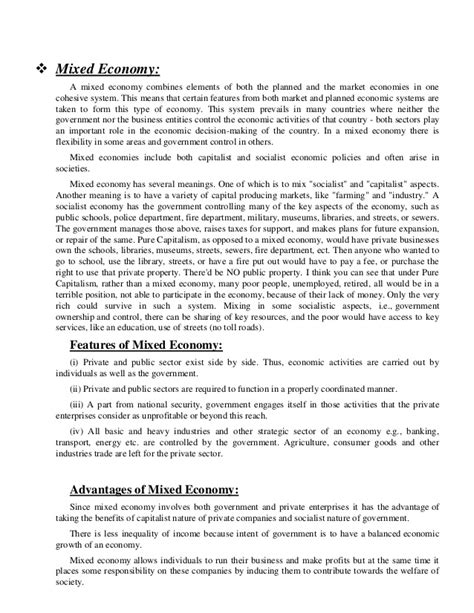 Mixed Economy Essay by Mixed Economy Essay The Social Balance The Mixed Economy Gcse Business Studies What Is A Exle