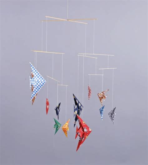 Origami Mobiles - mobile origami fish