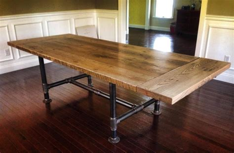 Aluminum Kitchen Table Kitchen Table With Metal Pipe Legs Reclaimed