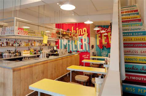 type murals wishbone restaurant  shed design milk
