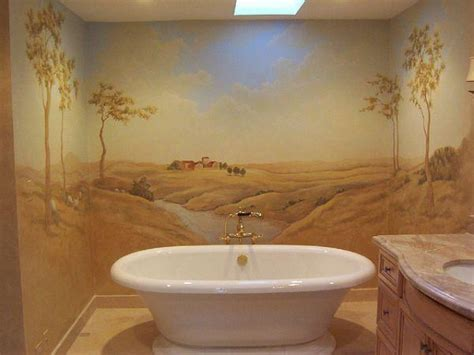 14 beautiful wall murals design for your bathroom