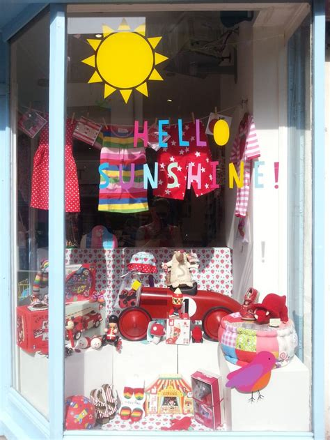 Fabric Shack Home Decor hello sunshine window display toby tiger shop brighton
