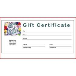 search results for make your own gift certificate