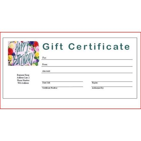 28 make your own gift certificate template best